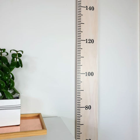 White Wash Wooden Height Chart - Personalised Growth Ruler - Height Chart