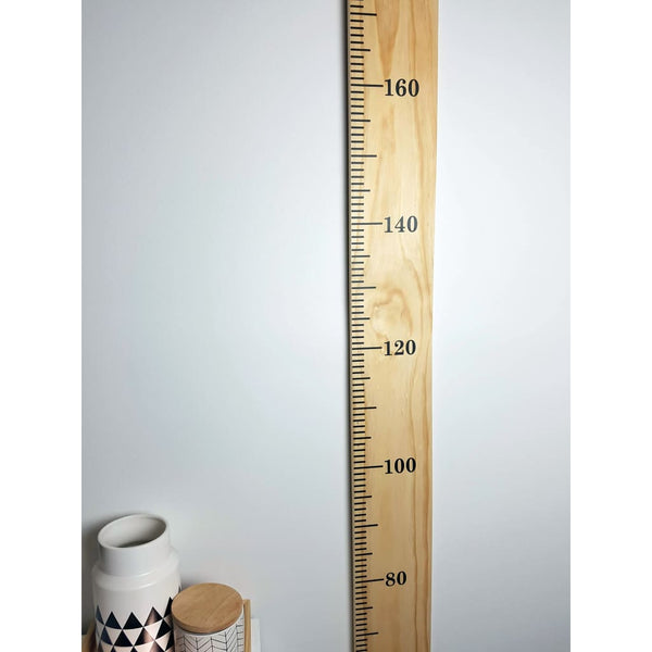 Wooden Height Chart - Personalised Childrens Growth Ruler - 135mm / Vinyl / CM - Height Chart