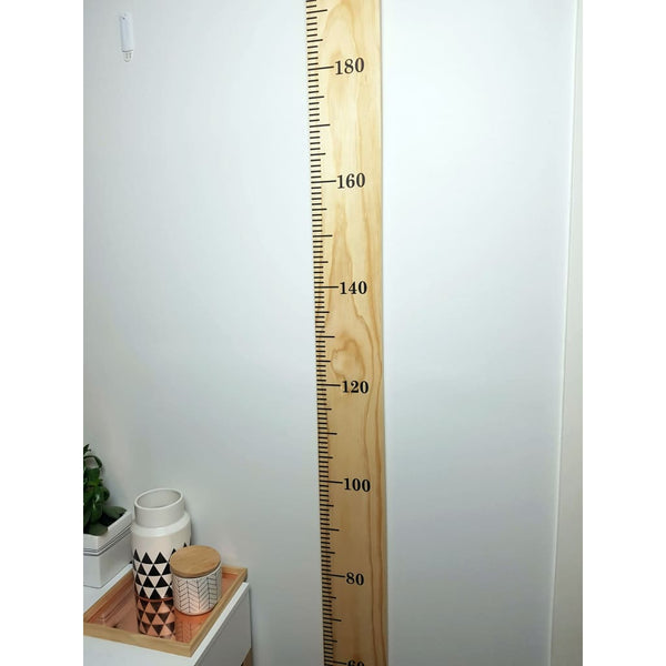 Wooden Height Chart - Personalised Childrens Growth Ruler - Height Chart