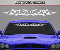 "Design #100 Redneck - Windshield Window Flame Flaming Vinyl Sticker Decal Graphic Banner 36""x4.25""+"
