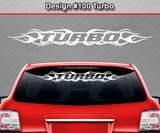 "Design #100 Turbo - Windshield Window Flame Flaming Vinyl Sticker Decal Graphic Banner 36""x4.25""+"