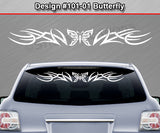 "Design #101 Butterfly - Windshield Window Tribal Accent Vinyl Sticker Decal Graphic Banner 36""x4.25""+"