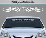 "Design #101 Heart - Windshield Window Tribal Accent Vinyl Sticker Decal Graphic Banner 36""x4.25""+"