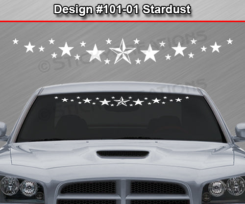 "Design #101-01 Stardust - Windshield Window Vinyl Decal Sticker Graphic Banner 36""x4.25""+"