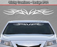"Design #101 - 36""x4.25"" + Windshield Window Tribal Accent Vinyl Sticker Decal Graphic Banner"