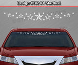 "Design #102-01 Stardust - Windshield Window Vinyl Decal Sticker Graphic Banner 36""x4.25""+"