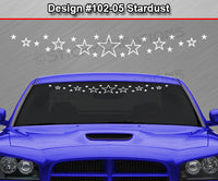 "Design #102-05 Stardust - Windshield Window Vinyl Decal Sticker Graphic Banner 36""x4.25""+"