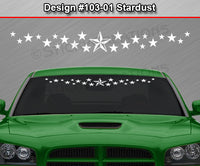 "Design #103-01 Stardust - Windshield Window Vinyl Decal Sticker Graphic Banner 36""x4.25""+"