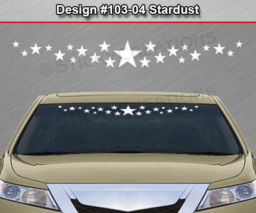 "Design #103-04 Stardust - Windshield Window Vinyl Decal Sticker Graphic Banner 36""x4.25""+"