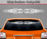 "Design #103 - 36""x4.25"" + Windshield Window Tribal Scallop Vinyl Sticker Decal Graphic Banner"