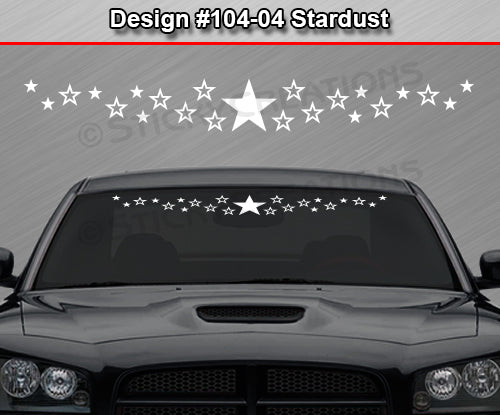 "Design #104-04 Stardust - Windshield Window Vinyl Decal Sticker Graphic Banner 36""x4.25""+"