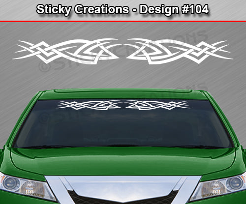 "Design #104 - 36""x4.25"" + Windshield Window Tribal Accent Vinyl Sticker Decal Graphic Banner"