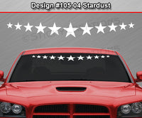 "Design #105-04 Stardust - Windshield Window Vinyl Decal Sticker Graphic Banner 36""x4.25""+"