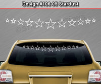 "Design #106-05 Stardust - Windshield Window Vinyl Decal Sticker Graphic Banner 36""x4.25""+"
