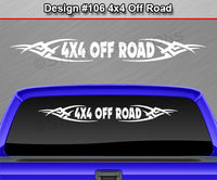 "Design #106 4x4 Off Road - Windshield Window Tribal Vinyl Sticker Decal Graphic Banner Truck 36""x4.25""+"