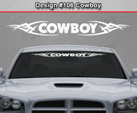 "Design #106 Cowboy - Windshield Window Tribal Vinyl Sticker Decal Graphic Banner 36""x4.25""+"