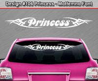 "Design #106 Princess - Windshield Window Tribal Vinyl Sticker Decal Graphic Banner 36""x4.25""+"