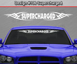 "Design #106 Supercharged - Windshield Window Tribal Vinyl Sticker Decal Graphic Banner 36""x4.25""+"