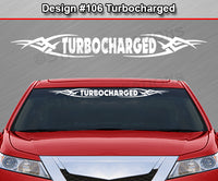 "Design #106 Turbocharged - Windshield Window Tribal Vinyl Sticker Decal Graphic Banner 36""x4.25""+"