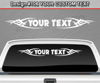 "Design #106 Your Text - Custom Personalized Windshield Window Tribal Vinyl Sticker Decal Graphic Banner 36""x4.25""+"