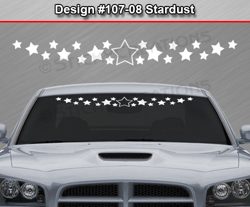 "Design #107-08 Stardust - Windshield Window Vinyl Decal Sticker Graphic Banner 36""x4.25""+"