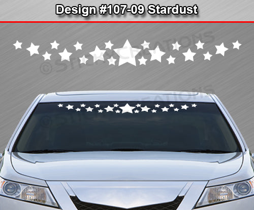 "Design #107-09 Stardust - Windshield Window Vinyl Decal Sticker Graphic Banner 36""x4.25""+"