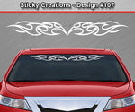 "Design #107 - 36""x4.25"" + Windshield Window Tribal Blade Vinyl Sticker Decal Graphic Banner"