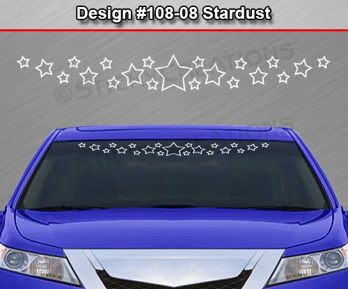 "Design #108-08 Stardust - Windshield Window Vinyl Decal Sticker Graphic Banner 36""x4.25""+"