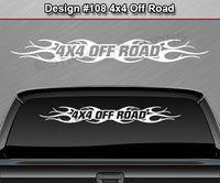 "Design #108 4x4 Off Road - Windshield Window Tribal Flame Vinyl Sticker Decal Graphic Banner Truck 36""x4.25""+"