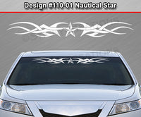 "Design #110 Nautical Star - Windshield Window Tribal Accent Vinyl Sticker Decal Graphic Banner 36""x4.25""+"