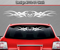 "Design #110 Skull - Windshield Window Tribal Accent Vinyl Sticker Decal Graphic Banner 36""x4.25""+"
