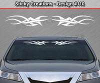 "Design #110 - 36""x4.25"" + Windshield Window Tribal Accent Vinyl Sticker Decal Graphic Banner"