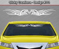 "Design #111 - 36""x4.25"" + Windshield Window Tribal Accent Vinyl Sticker Decal Graphic Banner"