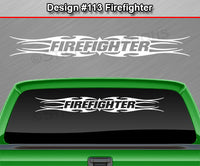 "Design #113 Firefighter - Windshield Window Tribal Flame Vinyl Sticker Decal Graphic Banner 36""x4.25""+"