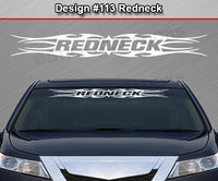 "Design #113 Redneck - Windshield Window Tribal Flame Vinyl Sticker Decal Graphic Banner 36""x4.25""+"