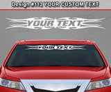 "Design #113 Your Text - Custom Personalized Windshield Window Tribal Flame Vinyl Sticker Decal Graphic Banner 36""x4.25""+"