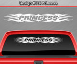 "Design #114 Princess - Windshield Window Tribal Flame Vinyl Sticker Decal Graphic Banner 36""x4.25""+"