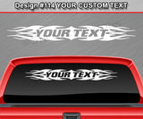 "Design #114 Your Text - Custom Personalized Windshield Window Tribal Flame Vinyl Sticker Decal Graphic Banner 36""x4.25""+"