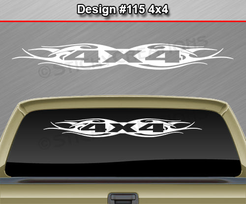 "Design #115 4x4 - Windshield Window Tribal Flame Vinyl Sticker Decal Graphic Banner Truck 36""x4.25""+"