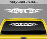 "Design #115 4x4 Off Road - Windshield Window Tribal Flame Vinyl Sticker Decal Graphic Banner Truck 36""x4.25""+"