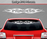 "Design #115 Princess - Windshield Window Tribal Flame Vinyl Sticker Decal Graphic Banner 36""x4.25""+"