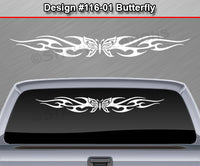 "Design #116 Butterfly - Windshield Window Tribal Flame Vinyl Sticker Decal Graphic Banner 36""x4.25""+"