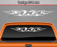 "Design #116 4x4 - Windshield Window Tribal Flame Vinyl Sticker Decal Graphic Banner Truck 36""x4.25""+"