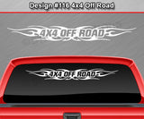 "Design #116 4x4 Off Road - Windshield Window Tribal Flame Vinyl Sticker Decal Graphic Banner Truck 36""x4.25""+"
