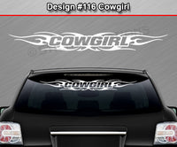 "Design #116 Cowgirl - Windshield Window Tribal Flame Vinyl Sticker Decal Graphic Banner 36""x4.25""+"