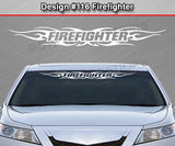 "Design #116 Firefighter - Windshield Window Tribal Flame Vinyl Sticker Decal Graphic Banner 36""x4.25""+"