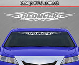 "Design #116 Redneck - Windshield Window Tribal Flame Vinyl Sticker Decal Graphic Banner 36""x4.25""+"