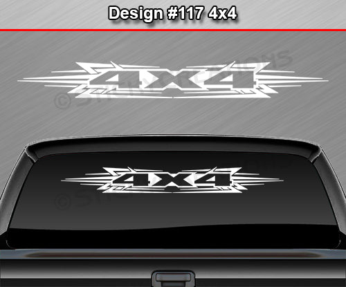 "Design #117 4x4 - Windshield Window Tribal Accent Vinyl Sticker Decal Graphic Banner Truck 36""x4.25""+"