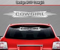 "Design #117 Cowgirl - Windshield Window Tribal Accent Vinyl Sticker Decal Graphic Banner 36""x4.25""+"