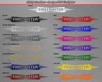 "Design #117 Firefighter - Windshield Window Tribal Accent Vinyl Sticker Decal Graphic Banner 36""x4.25""+"